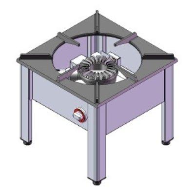 Hokker | aardgas | 13kW | (H)47,5x(B)50x(D)50cm