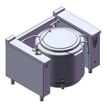 Kantelbare kookketel | 150L | 400V | 27 kW | (H)85x(B)130x(D)90cm