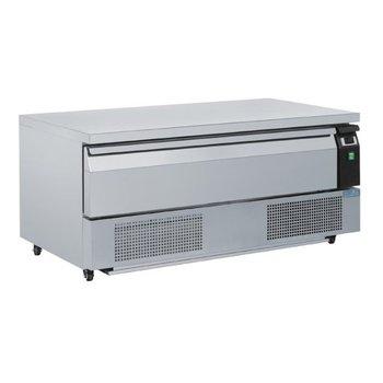 Lage koel/vrieswerkbank met lade | 3x 1/1GN | (H)60,5x(B)123x(D)70