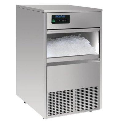 Ijsblokjesmachine Polar | holle ijsblokjes | 50kg/24u | 10kg bunker