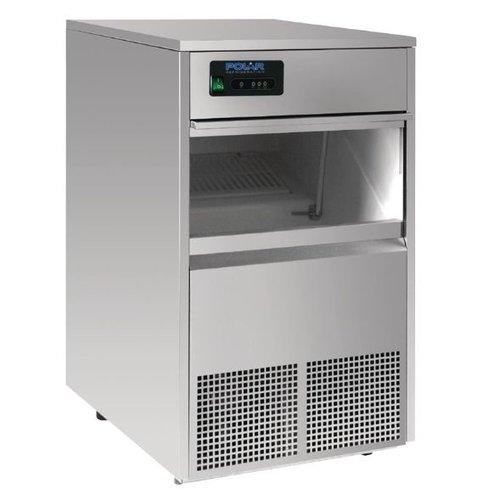 Polar Ijsblokjesmachine Polar | holle ijsblokjes | 50kg/24u | 10kg bunker
