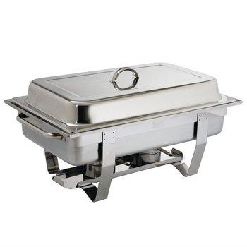Set chafing dish + 24 blikjes brandpasta