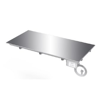 Drop-in verwarmde glazen plaat | 30-85° | Keuze uit 400mm - 1500mm
