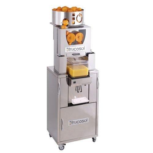 Frucosol Automatische sinaasappelpers gekoeld met zelfbedieningskraan | Automatische aanvoer