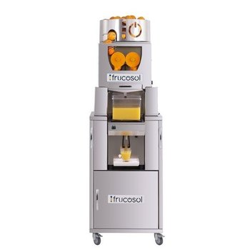 Automatische sinaasappelpers gekoeld met zelfbedieningskraan | Automatische aanvoer