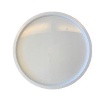 Ronde deksel - voor op plastic rond bakje - magnetron bestendig
