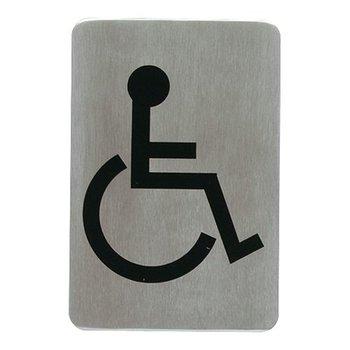 Tekstplaatje rechthoekig - rolstoel