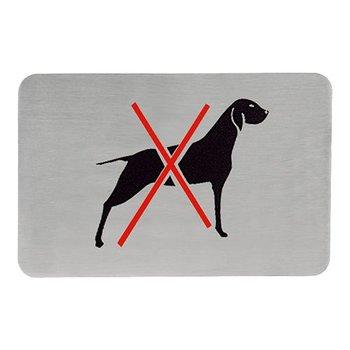 Tekstplaatje rechthoekig - hondenverbod
