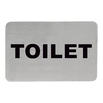 Tekstplaatje rechthoekig - toilet