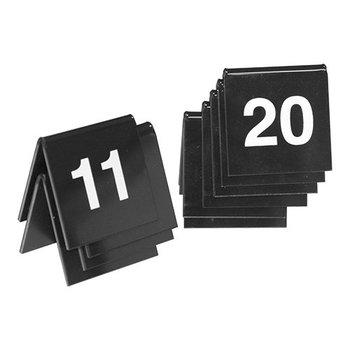Tafelnummer set zwart - 11 tot 20