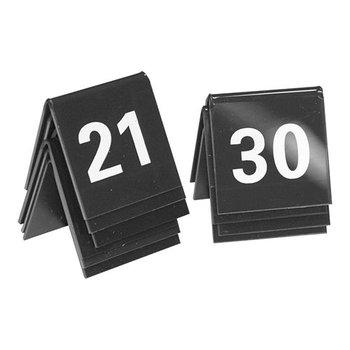 Tafelnummer set zwart - 21 tot 30