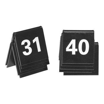 Tafelnummer set zwart - 31 tot 40