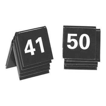 Tafelnummer set zwart - 41 tot 50