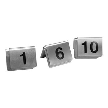 Tafelnummer set RVS - 1 tot 10