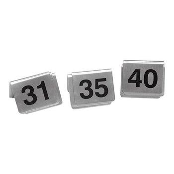 Tafelnummer set RVS - 31 tot 40