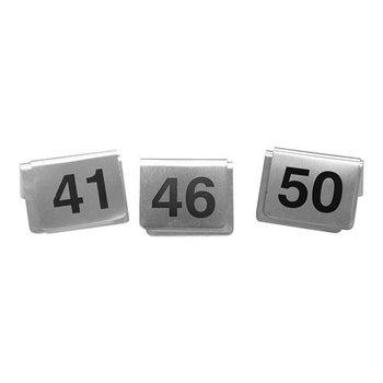 Tafelnummer set RVS - 41 tot 50