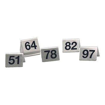 Tafelnummer set RVS - 51 tot 100