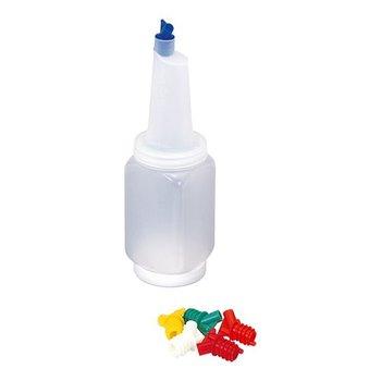 Schenkflesje gekleurde doppen - 1,2 liter