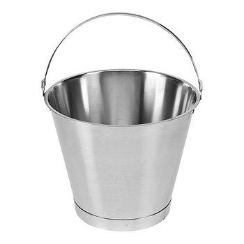 Emmer rvs stootrand - 10 liter