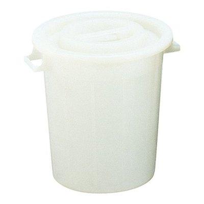 Afvalbak kunststof - met deksel - 75 liter