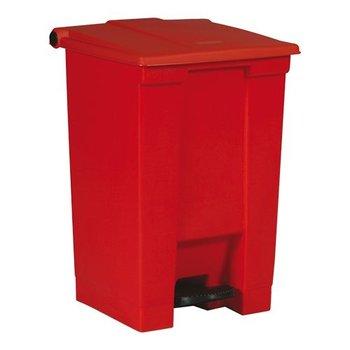 Pedaal afvalbak - rood 87 liter