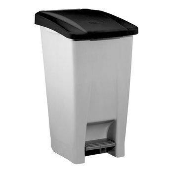 Pedaal afvalbak verrijdbaar - 80 liter
