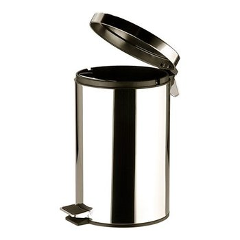 Pedaalemmer rvs klein - 12 liter