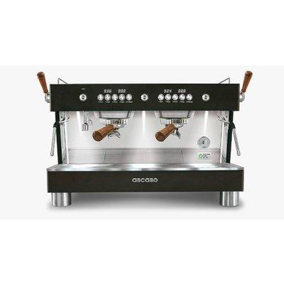 Ascaso Barista T Plus espresso machine - 2 groeps - black wood - (H)53,5 x (B)70 x (D)47,5cm