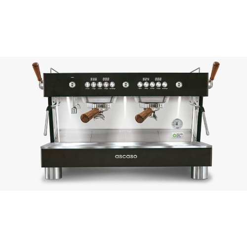 Ascaso Ascaso Barista T Plus espresso machine - 2 groeps - black wood - (H)53,5 x (B)70 x (D)47,5cm