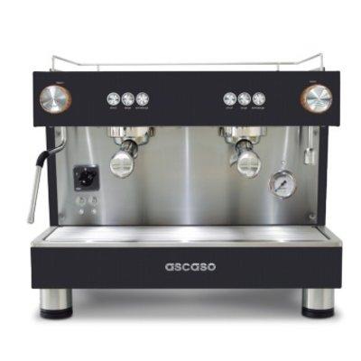 Ascaso Bar One Ground espresso machine - 2 groeps - black wood - (H)54 x (B)56 x (D)45cm