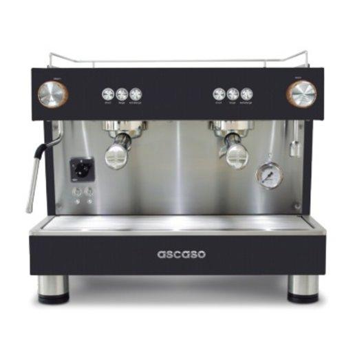 Ascaso Ascaso Bar One Ground espresso machine - 2 groeps - black wood - (H)54 x (B)56 x (D)45cm