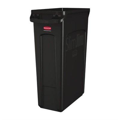 Afvalbak met ventilatiekanalen - zwart - 87L