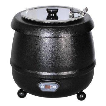 Soepketel bistro - 10 liter zwart - digitaal