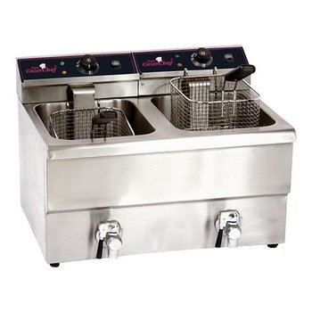 Friteuse CaterChef - 8+8 liter + tap