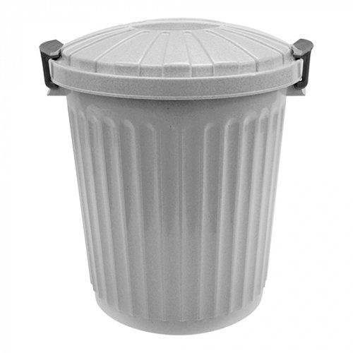 Afvalton met deksel - 43 liter - grijs