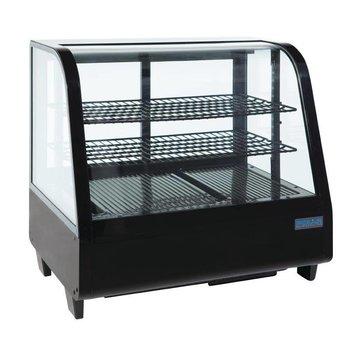 Koelvitrine tafelmodel | zwart | 100L | (H)67,5x(B)68,2x(D)45