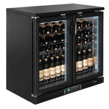 Wijnklimaatkast | klapdeuren | 5 tot 18 graden | 56 flessen | (H)92x(B)92x(D)53,5