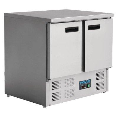 Koelwerkbank RVS   2 deurs   240L   (H)88x(B)90x(D)70