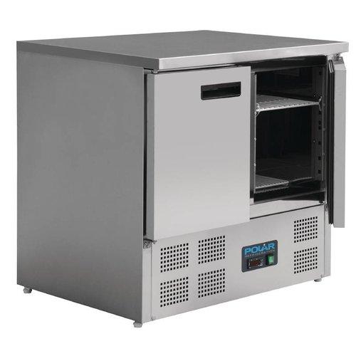 Polar Koelwerkbank RVS   2 deurs   240L   (H)88x(B)90x(D)70