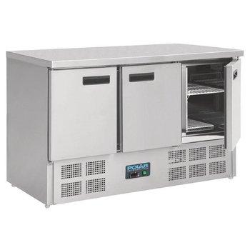 Koelwerkbank RVS 3 deurs | 368L | (H)88x(B)137x(D)70