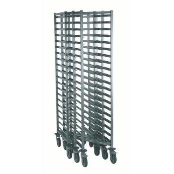 Regaalwagen Z-opklapbaar | gelast | 1/1GN | 20 etages