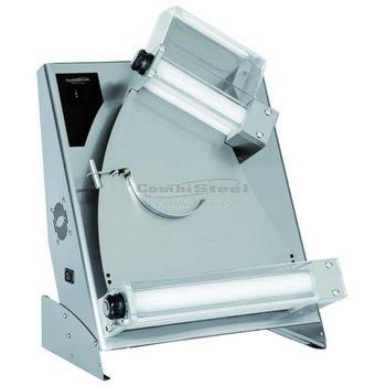 Pizza deegroller kantel - 140 tot 300 mm - combisteel