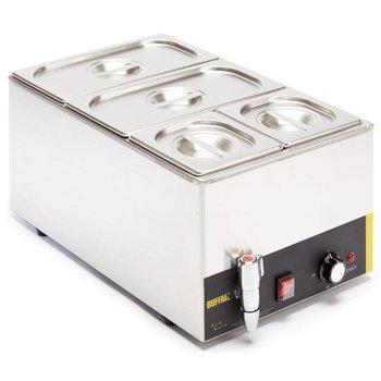 Bain-marie - 1/1GN - 150mm diep - met aftapkraan - compleet met bakken