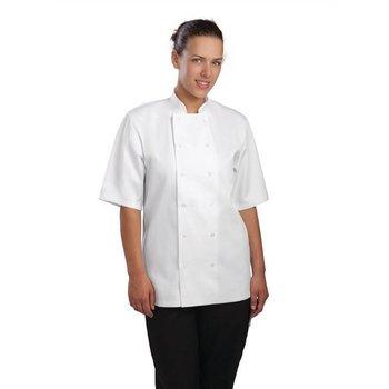 Horeca koksbuis - chef wit - korte mouwen - XS-XXL