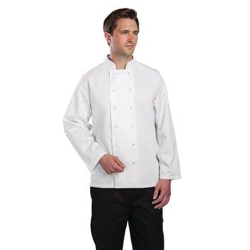 Horeca koksbuis - chef wit - lange mouwen - XS-XXL