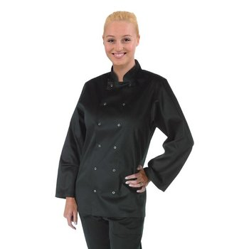 Horeca koksbuis - chef zwart - lange mouwen - XS-XXL