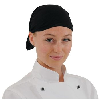 Horeca chef hoofddeksel - zwart
