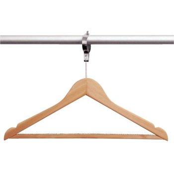Kledinghanger hout - 10 stuks - anti diefstal