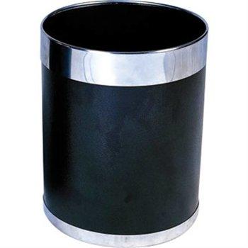 Prullenbak zwart-zilver - 10 liter
