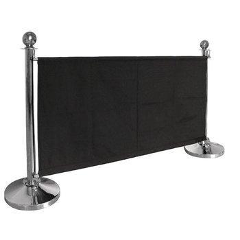 Afzetdoek - 70x143cm - zwart